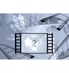 film with number vector image