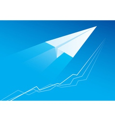 flying paper airplane vector image