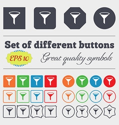 Funnel icon sign Big set of colorful diverse vector