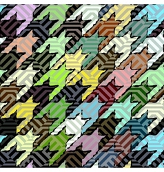 Green hounds-tooth pattern vector