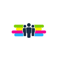 group paint logo icon design vector image
