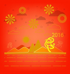 Happy monkey year for Chinese New Year vector