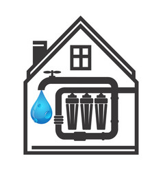 House water filtration vector
