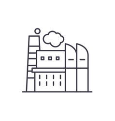 industrial centre line icon concept industrial vector image