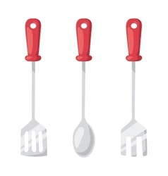 Kitchen ladle cooking home culinary silver vector image