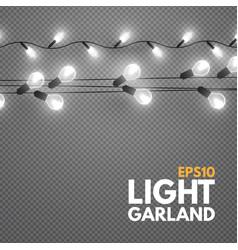 light garland on transparent background shining vector image