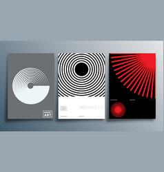 linear design for flyer poster brochure cover vector image
