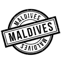 Maldives rubber stamp vector