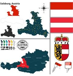 Map salzburg vector