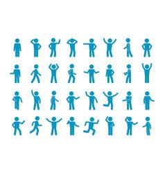 Movement stick man set symbol reflection and vector
