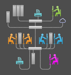 Network communication system infrastructure vector