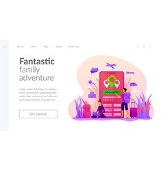 online booking services landing page vector image