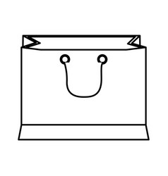 Paper shopping bag with handles outline vector