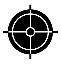 Periscope crosshair icon simple style vector