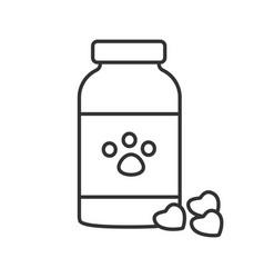 pet medicine linear icon vector image