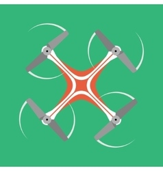 Quadrocopter icon with long shadow flat style vector