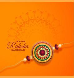 Raksha bandhan festival background with vector