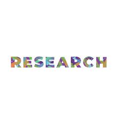 Research concept retro colorful word art vector