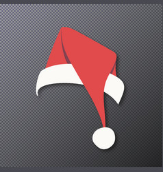 santa claus hat isolated on background vector image