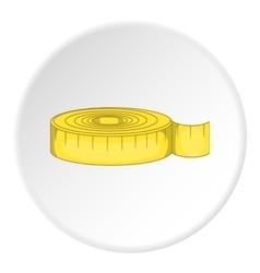 Sartorial meter icon flat style vector