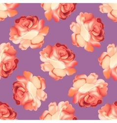 Seamless pattern with pink rose vector