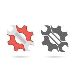 Service icon flat vector