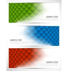 Set of abstract tech banners vector image