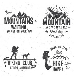 Set of extreme adventure badges vector