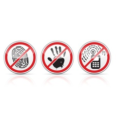 Set of restrictive signs icons vector