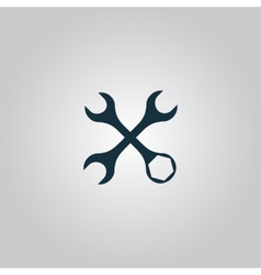 Settings Wrench Icon vector image