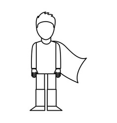 super hero with layer vector image