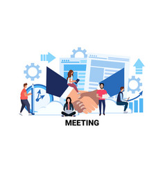 Team brainstorming business meeting concept vector