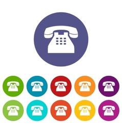 Telephone flat icon vector image