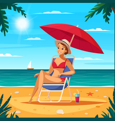 travel agency cartoon poster vector image