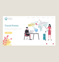 travel promo on flights up to 50 half off price vector image