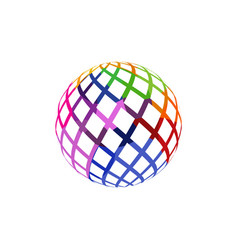 unusual colorful isolated logo frame ball vector image
