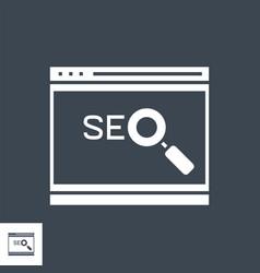 Website optimization glyph icon vector