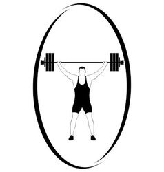 Weightlifting 1 vector image