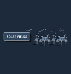Wind turbine solar energy panel fields renewable vector