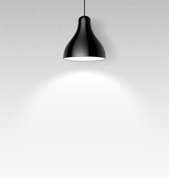 Black ceiling lamp vector image vector image