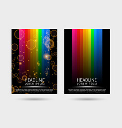 colorful strired covers template vector image vector image