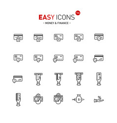 easy icons 12a money vector image vector image