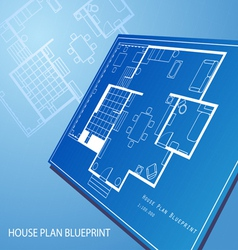 House plan blueprint text background vector image vector image