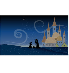 Scene Jesus Christ Nativity Baby Christian Holy vector image vector image