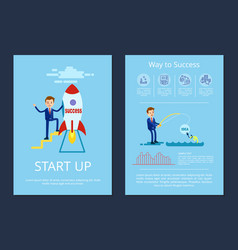 start up and way to success vector image