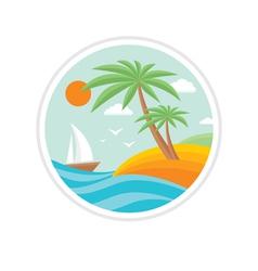 Summer holiday - travel logo vector image