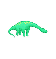 apatosaurus dinosaur with long neck tail and vector image vector image