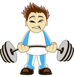Cartoon bodybuilder vector image