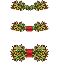 Christmas branch vector image vector image