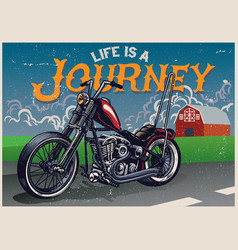 hand drawing of chopper motorcycle style vector image vector image